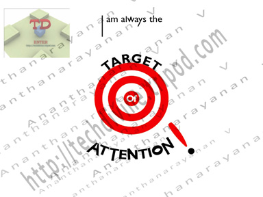 Target of attention