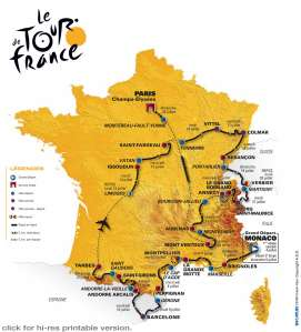 The Tour Map 2009
